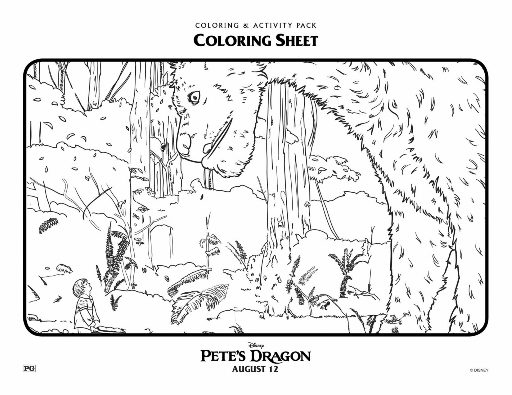 Pete's Dragon Coloring Page