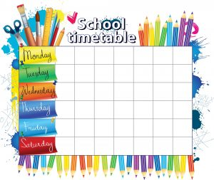 Create a Back To School Daily Schedule