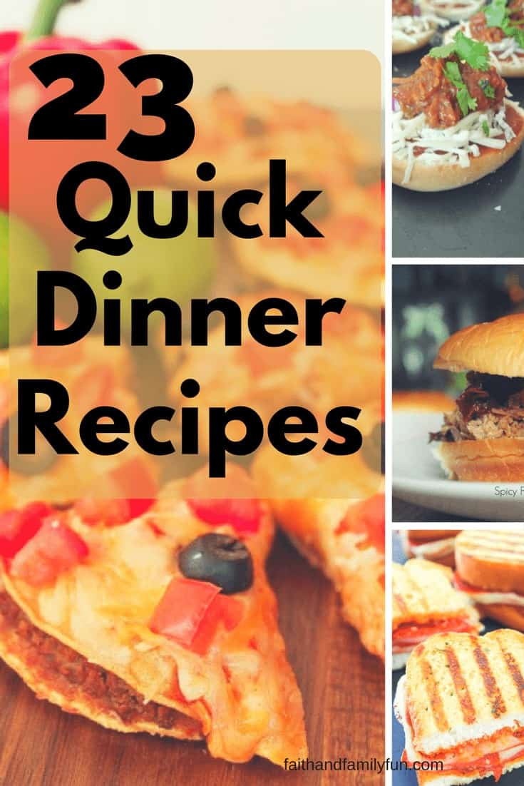 23 Quick Dinner Ideas for Families
