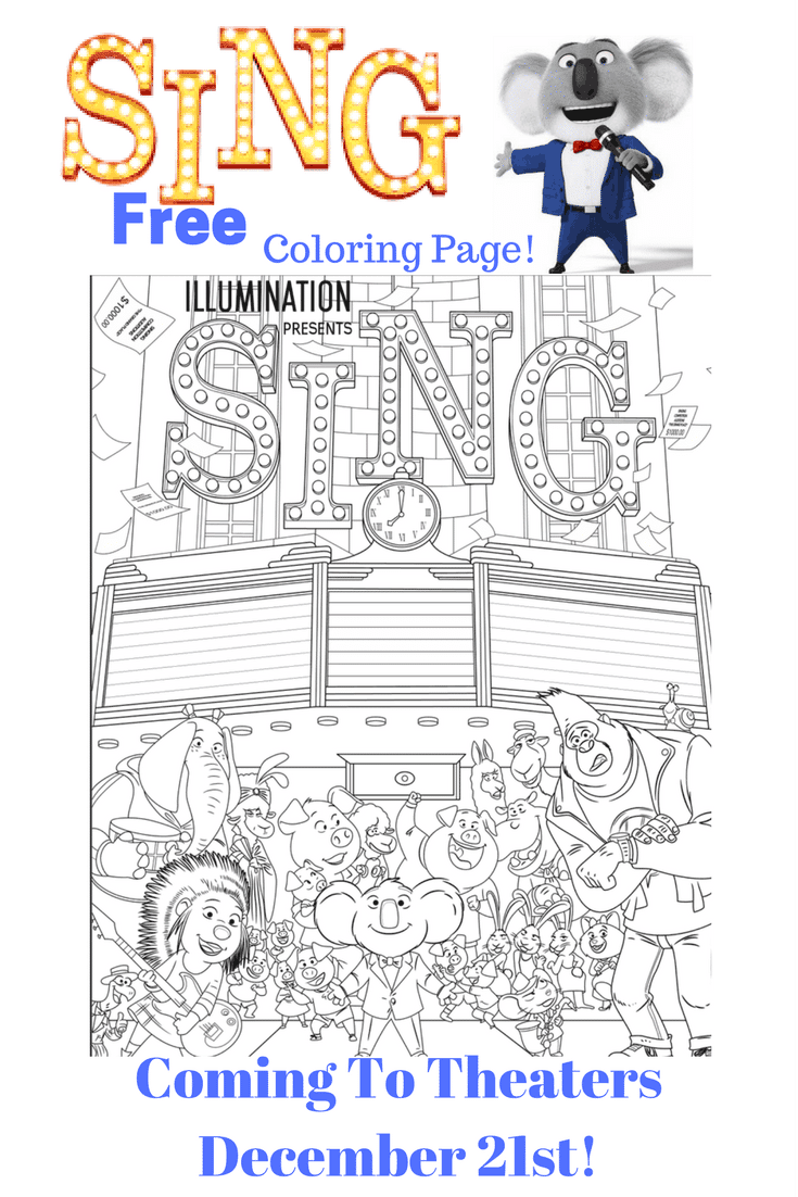 Free Sing Movie Coloring Page!