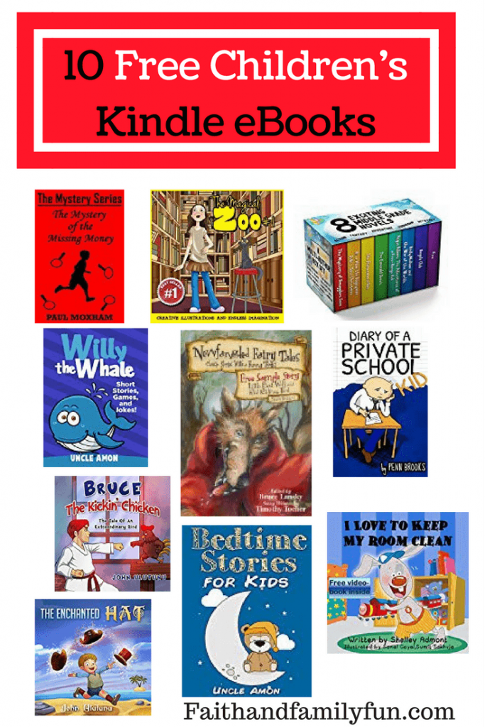 10 Free Children's Kindle eBooks faithandfamilyfun.com