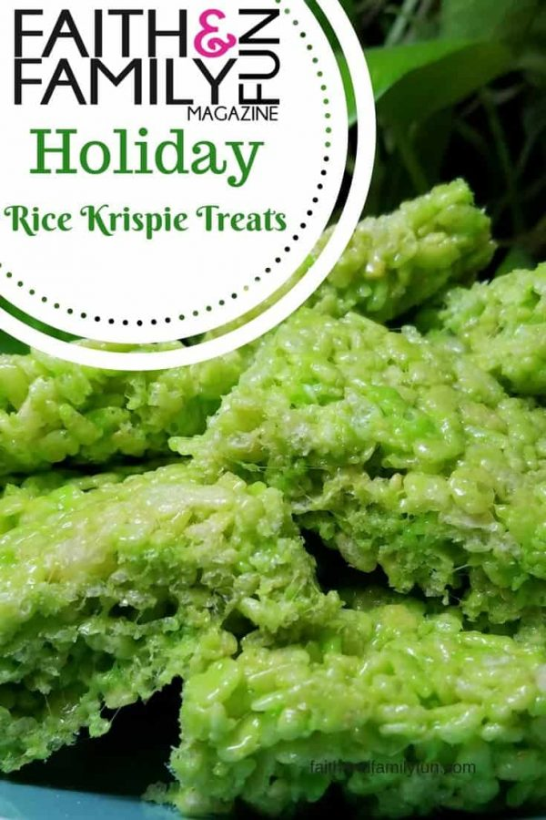 Holiday Rice Krispie Treats faithandfamilyfun.com