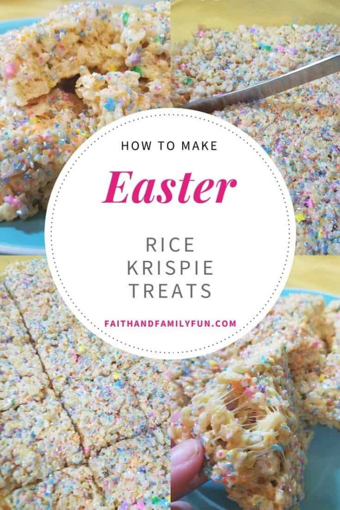 How To Make Easter Rice Krispie Treats faithandfamilyfun.com Faith And Family Fun