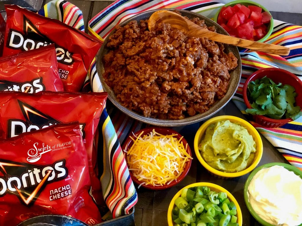 Ingredients for a Walking Taco Bar