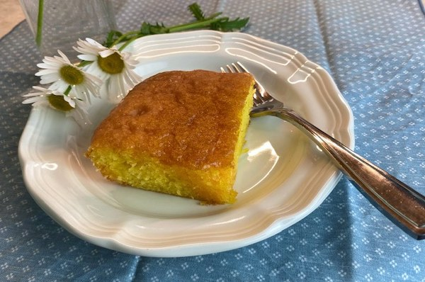 lemon cake on plate