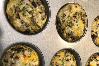 egg muffins hot out of the oven in a non-stick pan